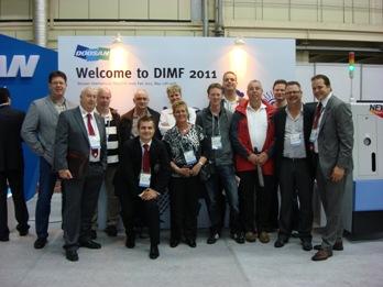 Nederlandse metaalbewerkers met Dormac bij Doosan