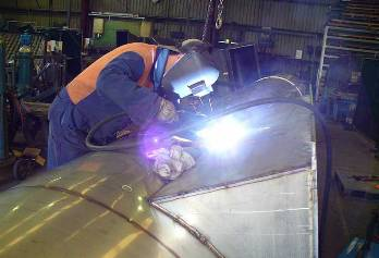 Het lassen van roestvast staal rvs