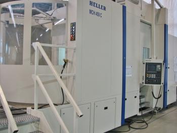 Het nieuwe MCH450C vijfassig horizontaal bewerkingscentrum van Heller bij GEA Grasso