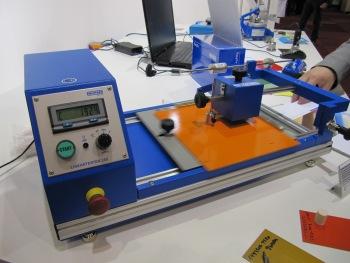 Lineartester 249 van Erichsen in actie op het Surface Lab van de Surface 2012