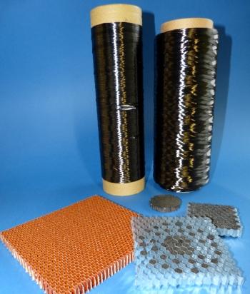 Pechbasierte Carbonfasern, Wabenstrukturen und wärmeleitfähiger Prototyp (Pitch-based carbon fibers, honey-comb structures and thermally conductive prototype), Quelle: ITA