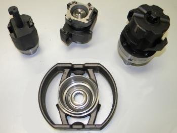 Een van de producten van Bredel, een aluminium rotor, en de daarvoor samen met Mapal en Laagland ontwikkelde combigereedschappen (foto's: Bredel/Laagland)