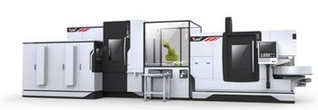 Fertigungszelle zur Zahnradbearbeitung: Vertikal-Drehmaschine Hessapp DVT 200 und Verzahnzentrum Modul H 250 CDT EMO Hannover 2013