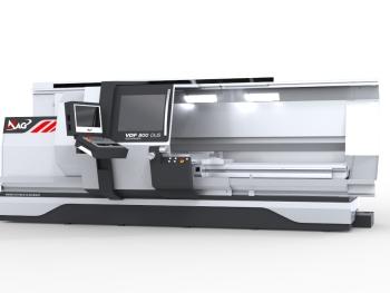 Wie alle Maschinen werden auch die bewährten Universal- Drehmaschinen der VDF DUS Baureihe in den Baugrößen 560 und 800 im neuen Design vorgestellt. Das Design-Body-Kit, das zusammen mit der Münchner Kaikai Company erarbeitet wurde, bietet Raum für die spezifischen Anforderungen der Kunden und setzt auf intuitive Bedienerführung