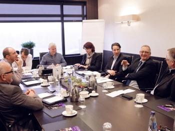 Techni Show 2014 Danny van Rij, André van Oversteeg, Martin Franke, Reinold Tomberg, Chantal Baas, Erwin Verbruggen, Ger van der Endt en Hans van Steenis