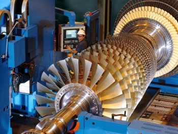 Modern Siemens gas turbines are produced at the new large CCGT plant in Charlotte, USA.
