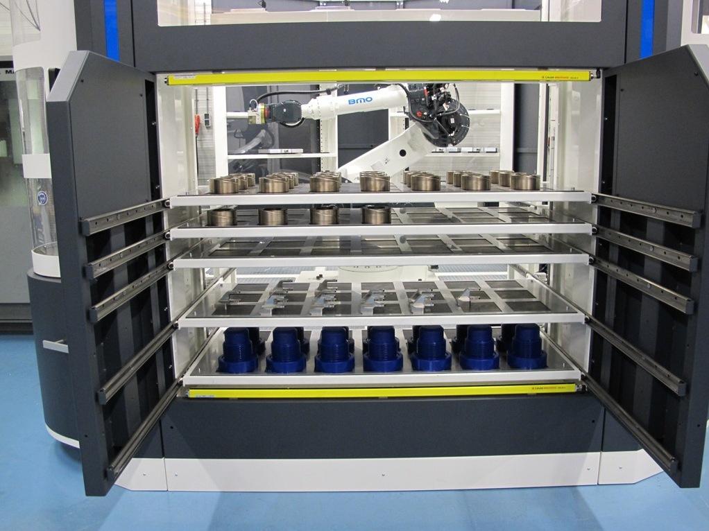JMBA is dankzij de robotcel van BMO flexibel in het opspannen en bewerken van series en enkelstuks
