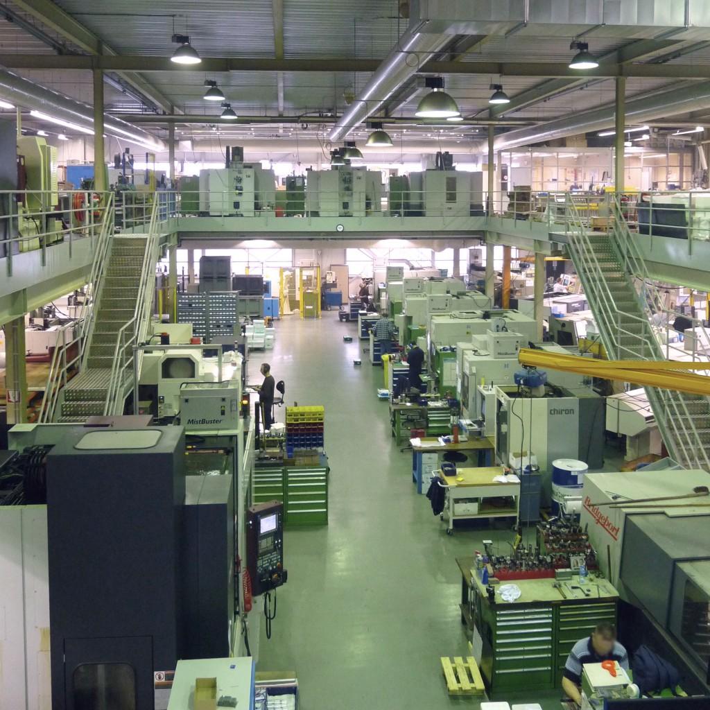 De freesafdeling van Heemskerk Fijnmechanica