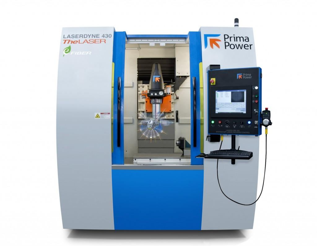 Prima Power presenteert op de EuroBlech een Laserdyne 430BD machine voor precisielaserbewerkingen als lassen, snijden en boren (foto: Prima Power)