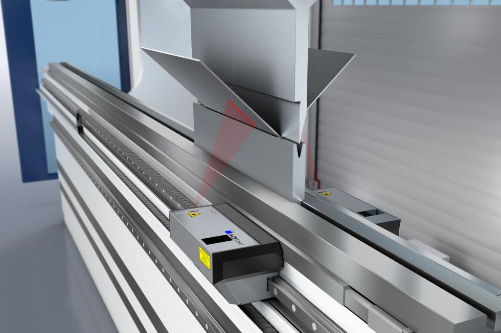 ACB Laser is een nieuw hoekmeetsysteem dat met behulp van laserstralen werkstuk-onafhankelijk buighoeken kan meten (foto: Trumpf)