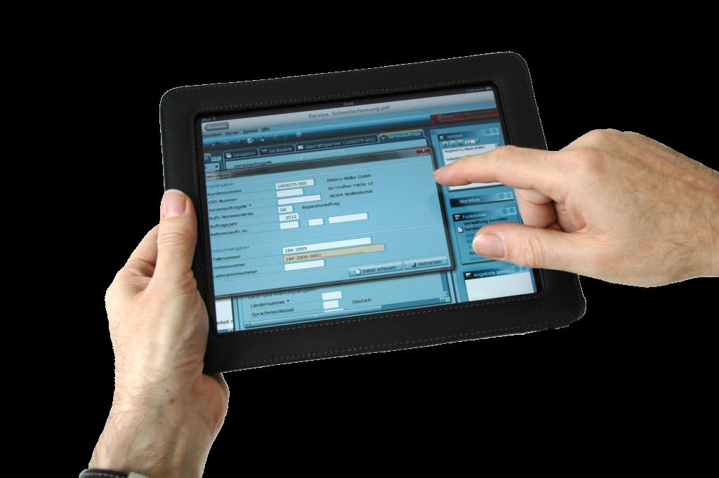 Met tablets is het mogelijk om snel bij de opgeslagen data te komen