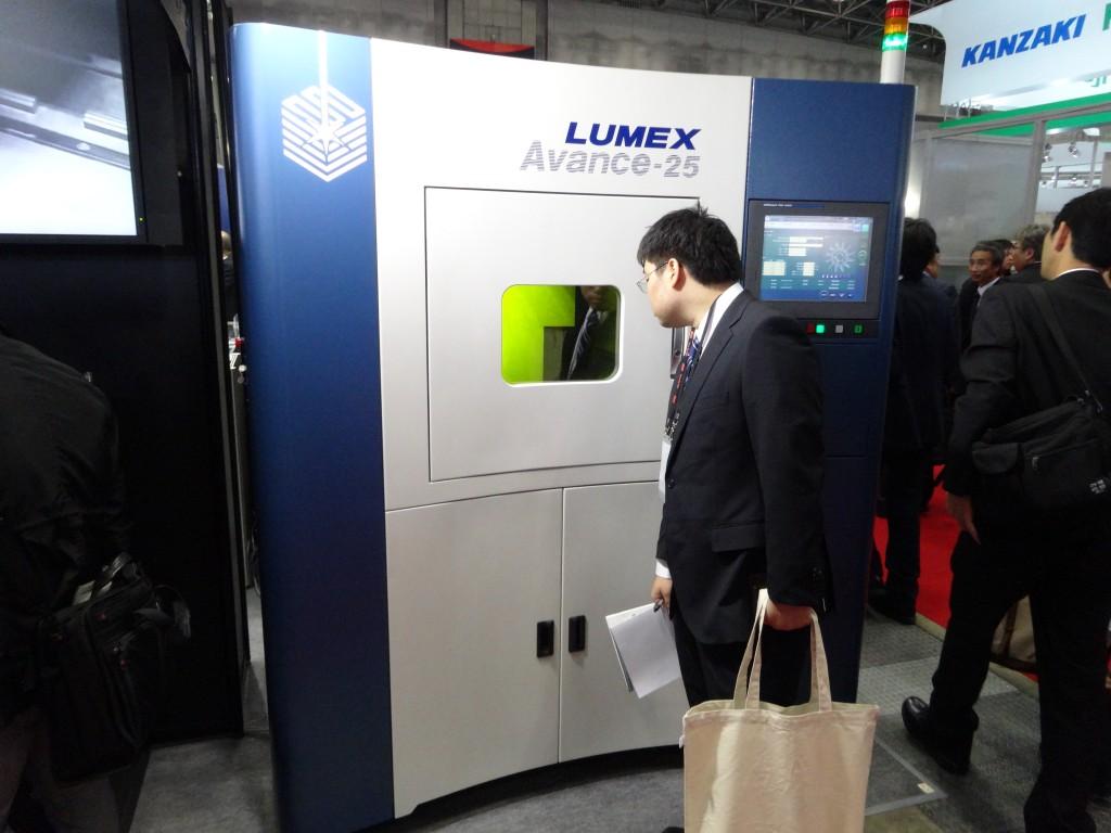 De Lumex Avance 25 zoals die door Matsuura werd getoond op de Jimtof in Tokio (foto: Tim Wentink)