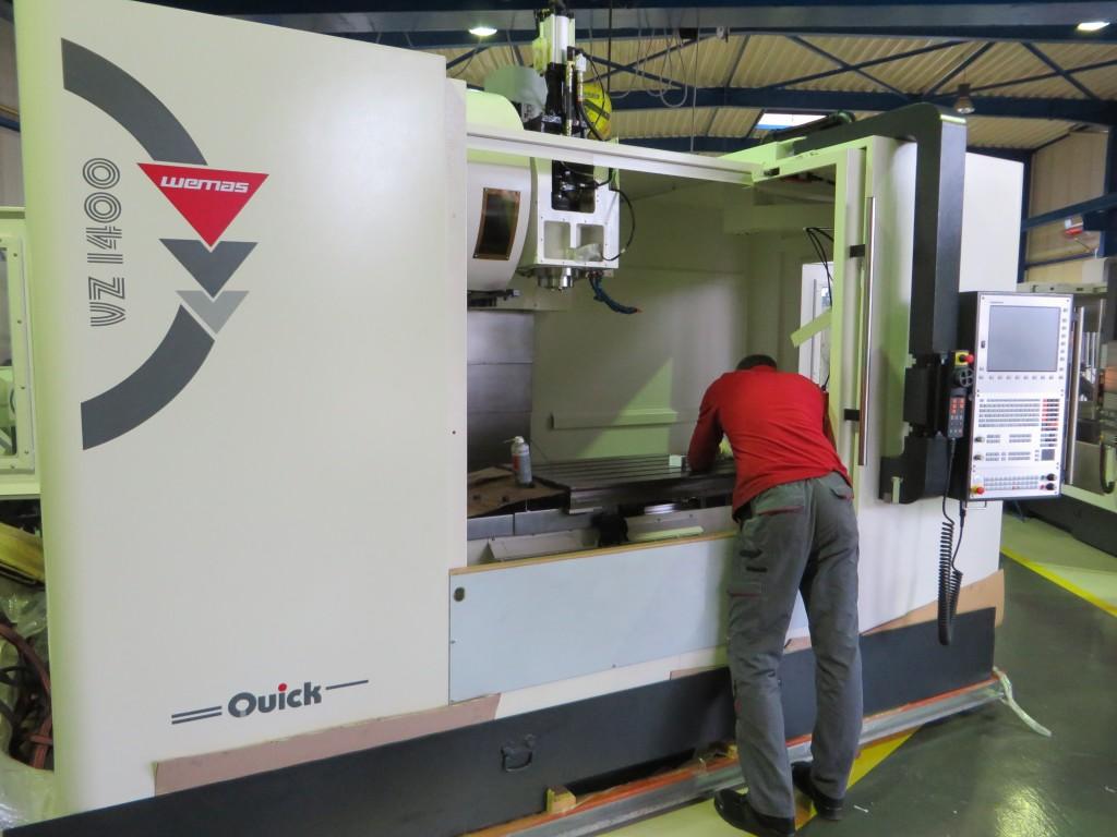 Montage-werkzaamheden aan een bewerkingscentrum bij Wemas in  Seesen