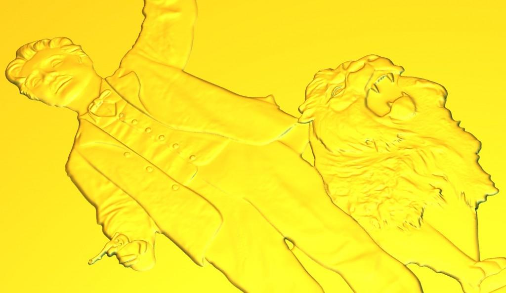 3D-preview in ArtCAM van een 3D-preegstempel