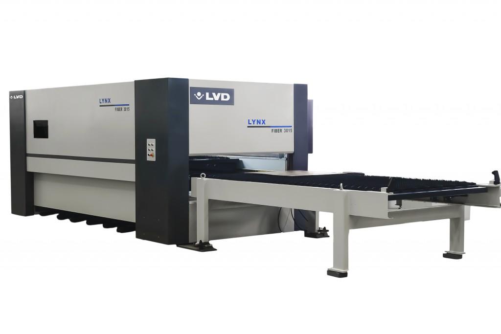 De geïntegreerde automatische wisseltafels van de Lynx zorgen voor een snelle en efficiënte productie (foto: LVD)