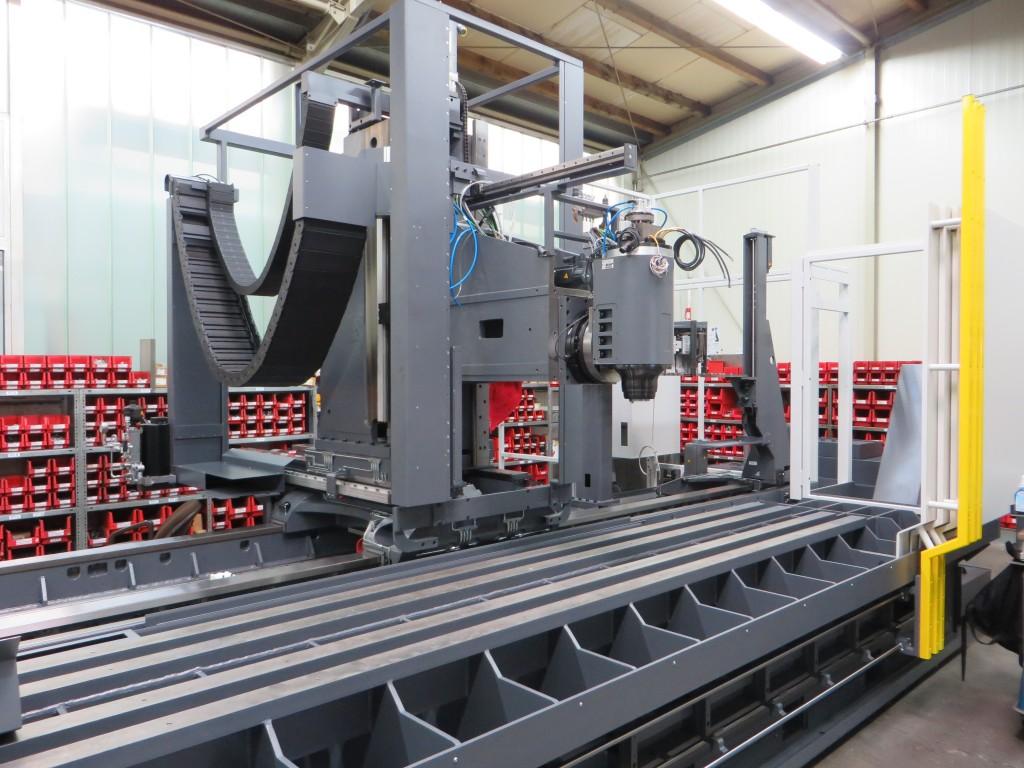 Montage van een Farhrständer-machine bij AXA