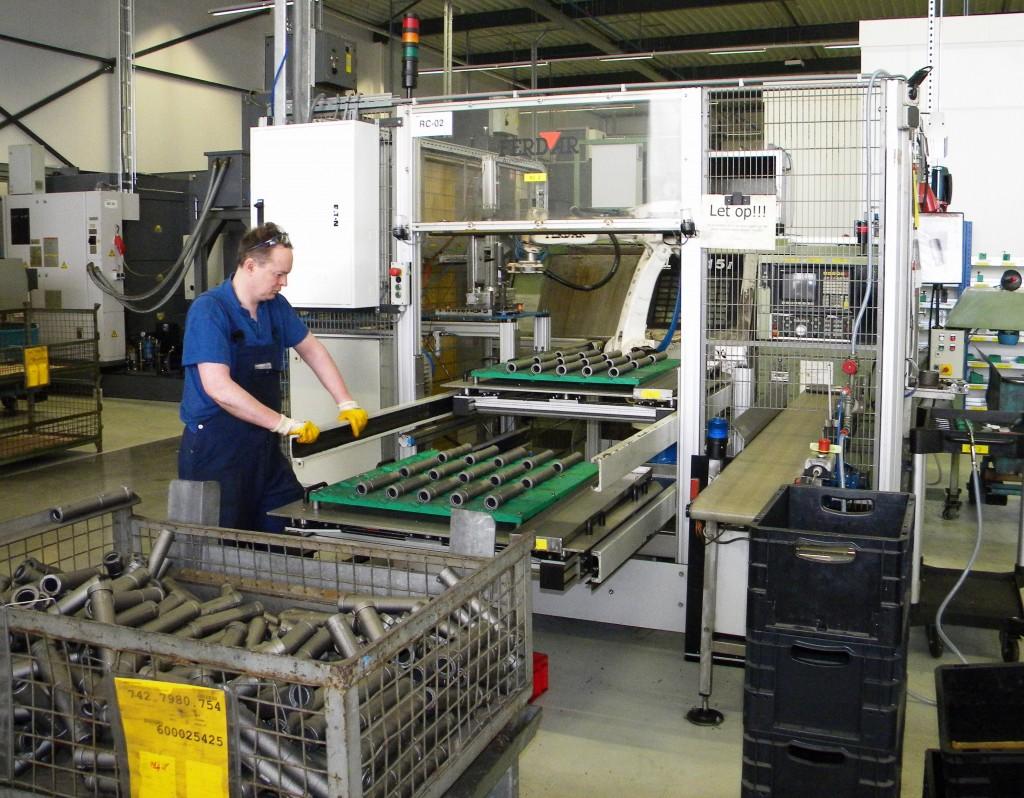 Ook de meeverhuisde robotcellen zijn voorzien van Okuma-machines voor bewerking van gietijzeren producten.