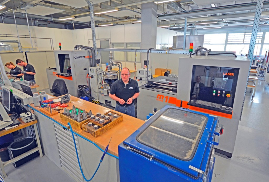 Mapal gebruikt twee M1 cusing 3D-printers van Concept Laser in  voor de productie van de QTD-series