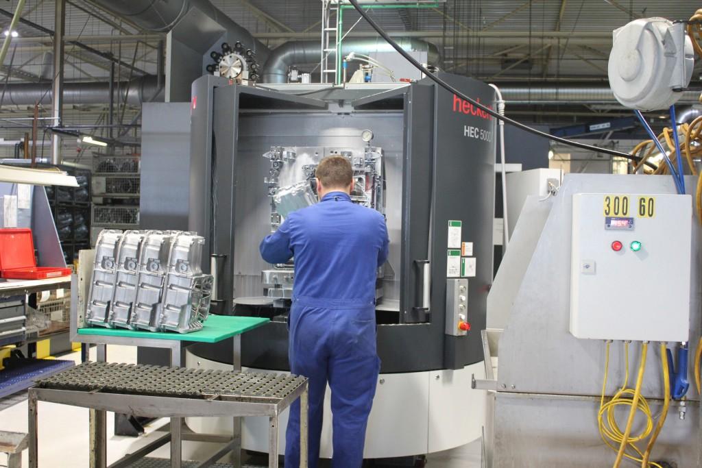 De Heckert 500 D bij Brabant Alucast. In de nabije toekomst worden deze bewerkingscentra geautomatiseerd