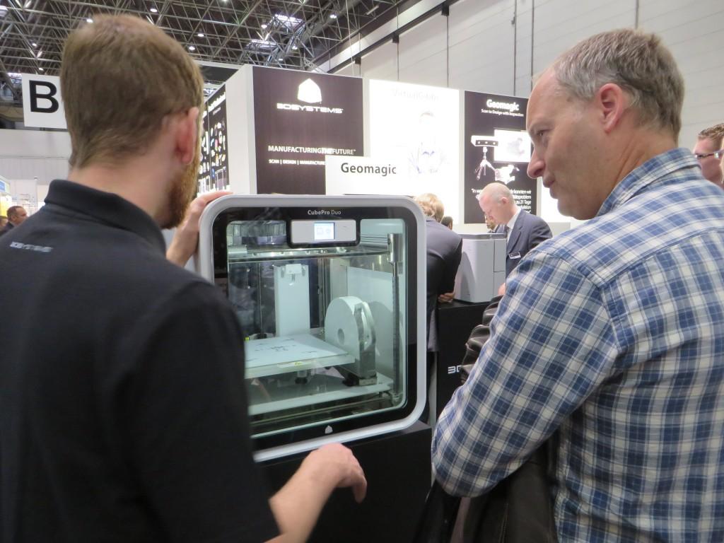 De printmachine CubePro Duo van 3DSystems op de EuroMold 2015