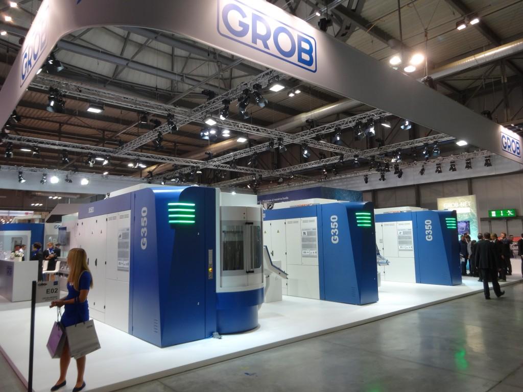 De tweede generatie van de Grob G350 op de EMO Milano 2015 (foto: Tim Wentink)