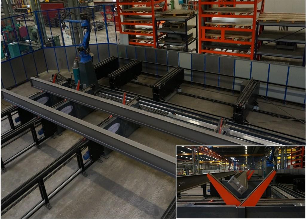 De ProduLAS Balkenlasmachine (BLM) is uitgerust met een automatische aan- en afvoer van profielen
