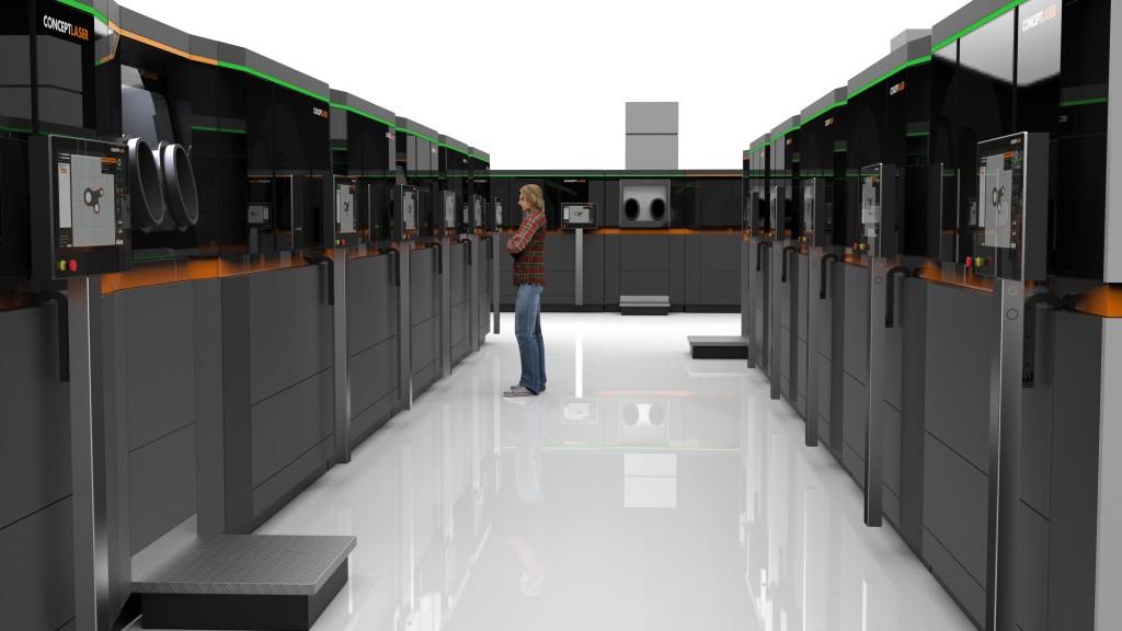 Werkplaats voor additive manufacturing in de visie van Concept Laser (foto's: Concept Laser)
