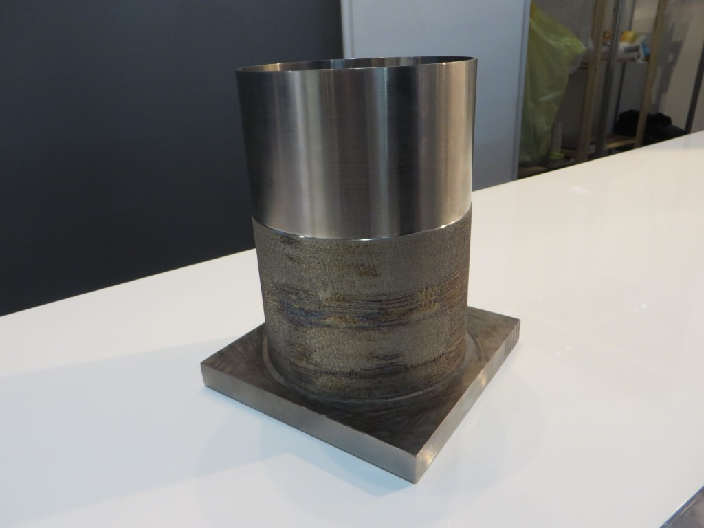 Voorbeeld van lasercladden zoals getoond door Insstek