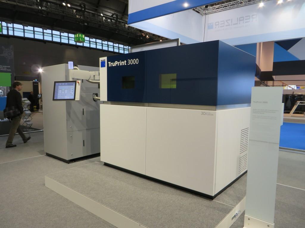 De Trumpf Truprint 3000 voor metaalprintwerk zoals getoond in Frankfurt