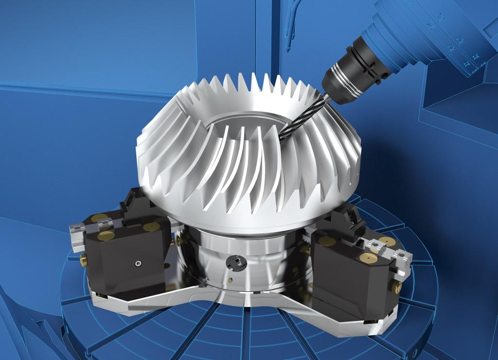 Met de Rota-S flex kan het toepassingsgebied van frees- en draaimachines veelvuldig uitgebreid worden (foto's: Schunk)