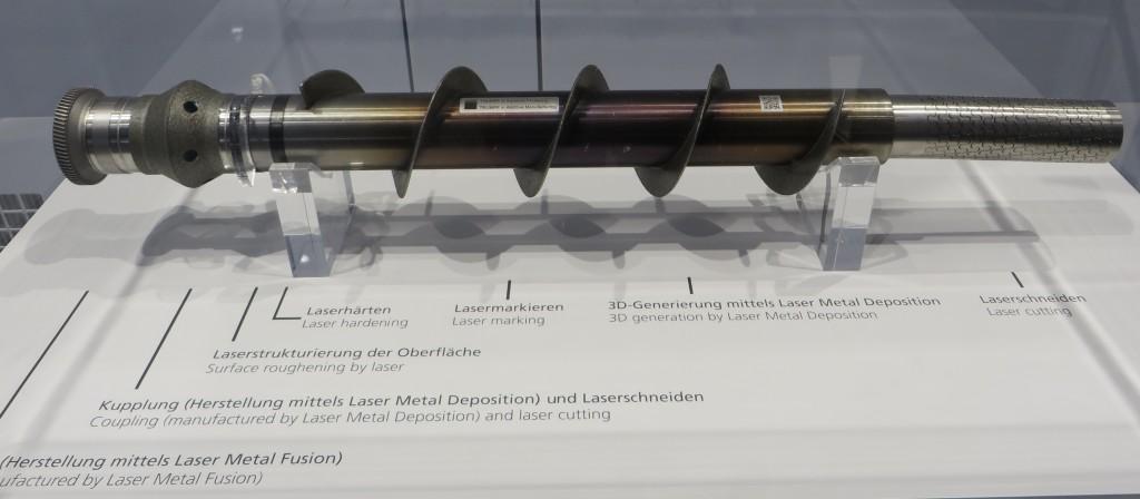 Demonstratiedeel van Trumpf dat de veelheid van mogelijke laserbewerkingen duidelijk maakt