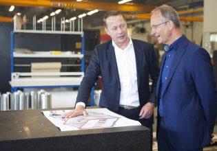 Werkbezoek Henk Kamp en Martijn Tuinte