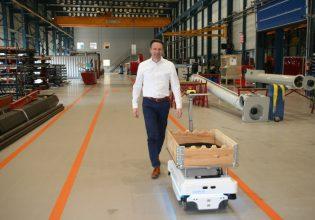 Van Beek Intern Transport Robot.