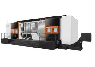 De Mazak Integrex e-800H is ontwikkeld voor de verspaning van grote en zware werkstukken zoals landingsgestellen en nokkenassen.