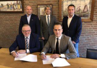 Boven vlnr: Anton Lammers, Bert Koops, Steven de Harder, onder vlnr: Melis van de Groep, Bastiaan Clement.